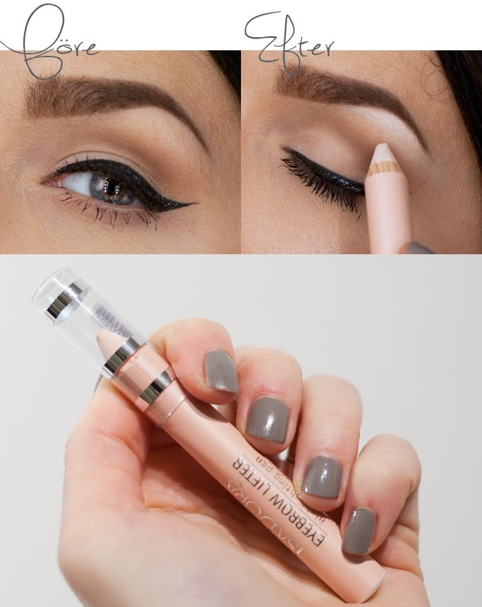 Lift out your eyebrow