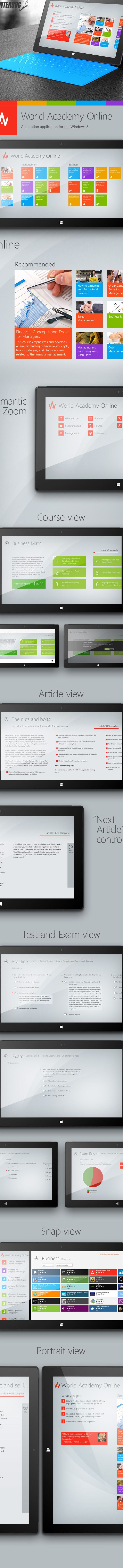 World Academy Online for Windows 8 on Behance
