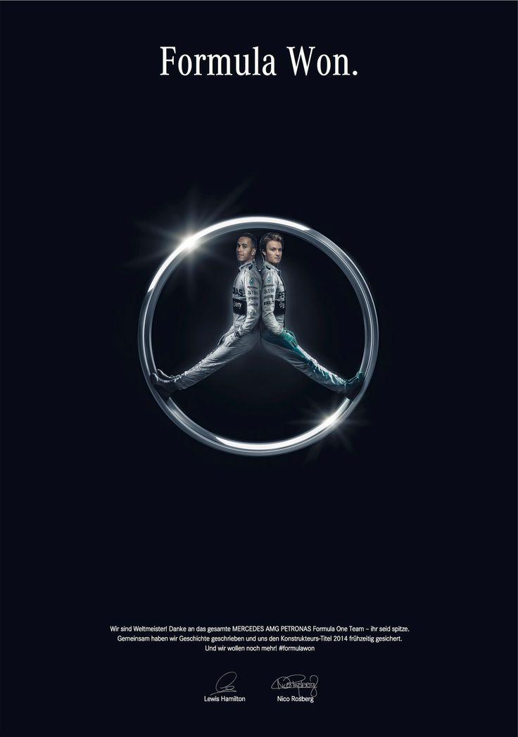 """Mercedes_ benz  gana el título de constructores del 2014"" Agencia:Jung Von Matt/Neckar, Germany"
