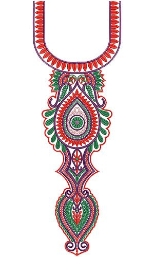 10262 Neck Embroidery Design
