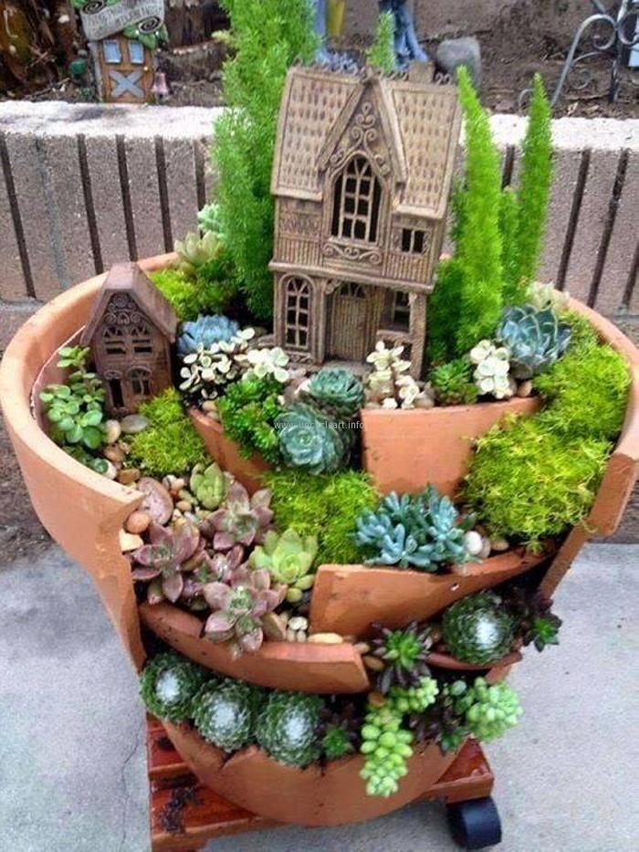 Fairy tale garden ideas fairy gardens pinterest for Fairy garden ideas diy