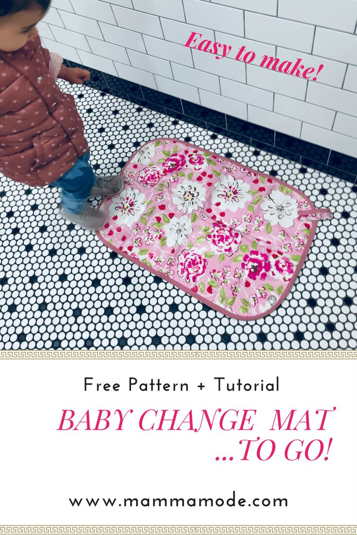 DIY Roll Up Baby Change Mat! It's easy to sew and washable,wipeable and rollable ! Mamma Mode