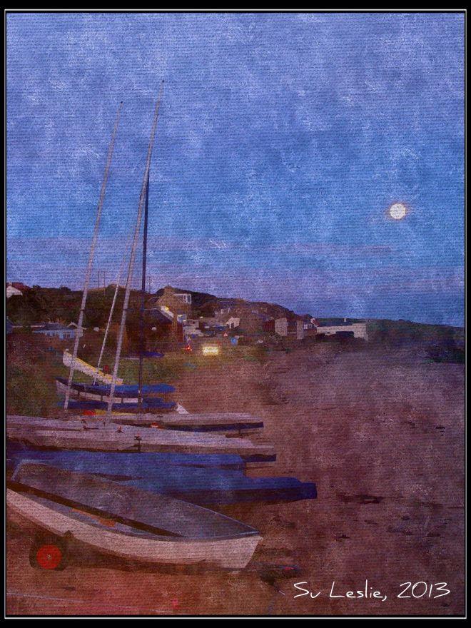Twilight, Lower Largo, Fife, Scotland. Photo: Su Leslie, 2013. Shot with iPhone4, edited with Pixlr Express.