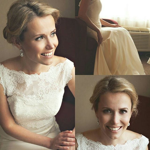 What does #stunning mean to you? For Ellen it meant soft. Sophisticated. Recognizable. With a hint of #glamour. My team asmd I were so honoured to have been able to create this #timeless look for her. @lovejodirenee captured Ellen's true beauty on her big day!  #airbrush makeup and #hair services on #location. #Toronto #Cambridge #Hamilton #Durhamregion #teamnicolerichardsandco #themakeuproom