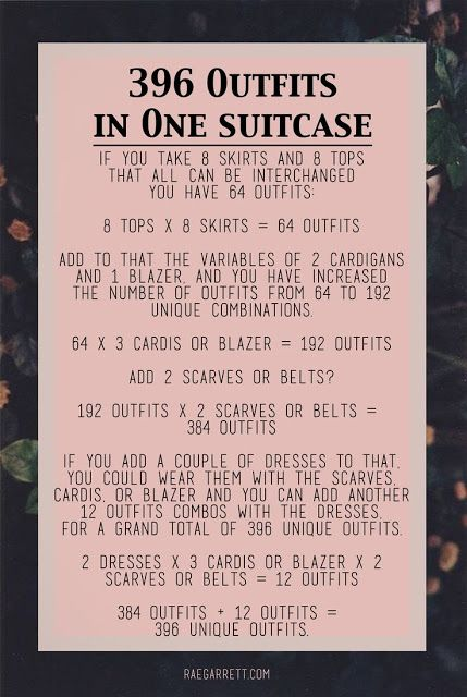 How to pack 396 outfits in one suitcase!!! raerun.com