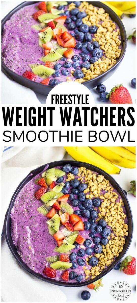 Weight Watchers Blueberry Smoothie Bowl