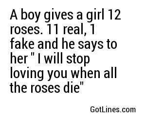 Cheesy rose pick up lines