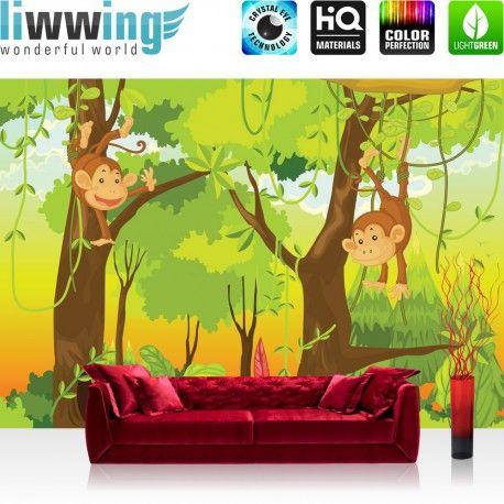 liwwing (R) Marken Vlies Fototapete Jungle Animals Monkeys | 300x210cm oder 400x280cm wählbar! PREMIUM Marken Vliestapeten sofort ab Lager & günstig, versandkostenfrei innerhalb Deutschland.