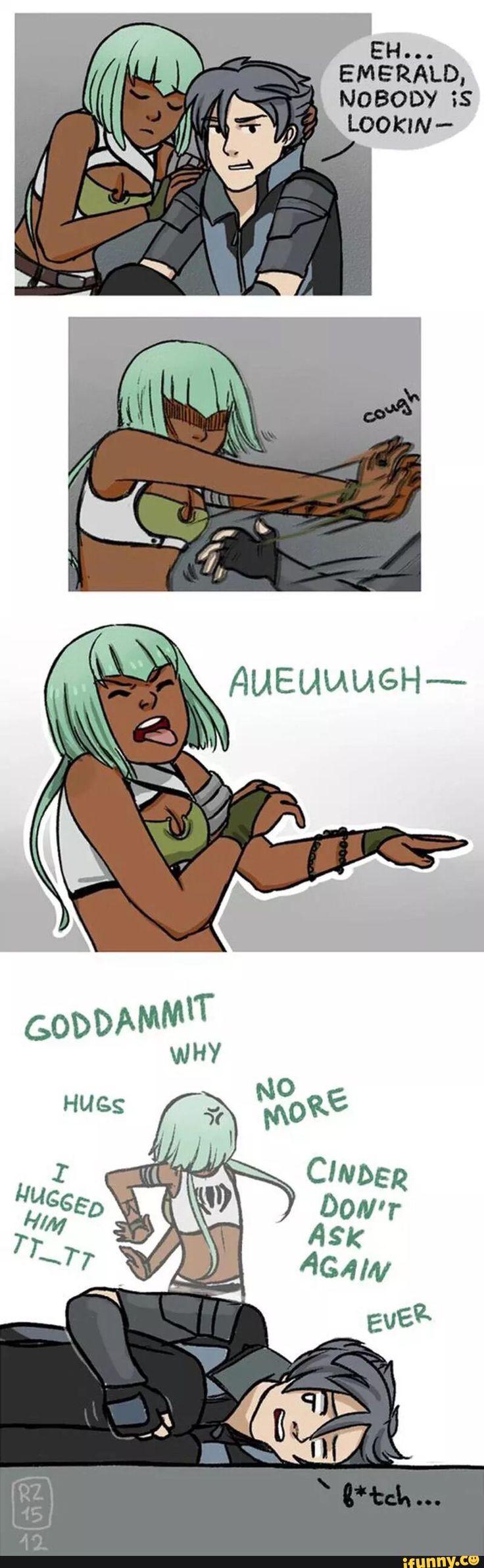 rwby, emerald, mercury