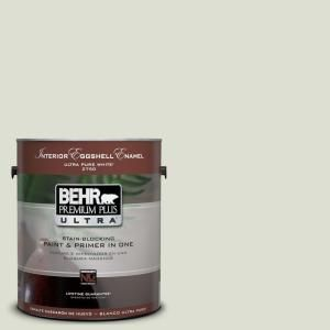 BEHR Premium Plus Ultra 1-Gal. #UL210-10 Whitened Sage Interior Eggshell Enamel Paint-275001 at The Home Depot