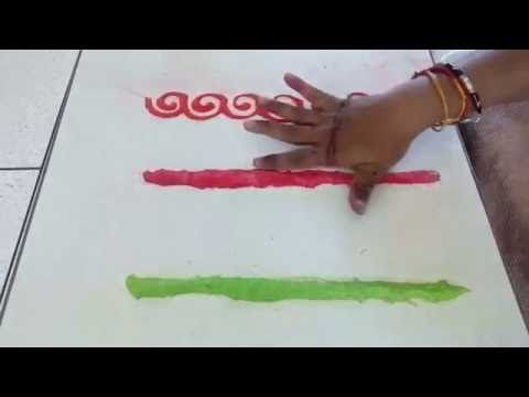 Magic finger Rangoli by Seema Tammewar Aurangabad - YouTube