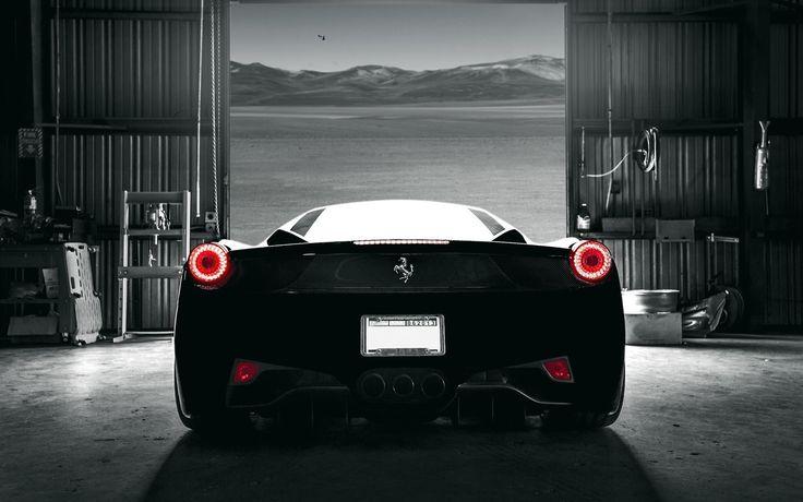 Black Ferrari Wallpaper Photo #fpB