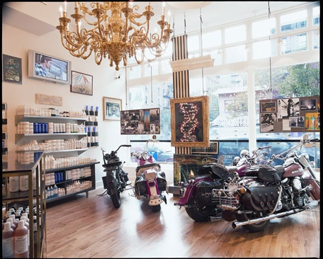 Famous Kiehl's store in New York City #cosmetics #chandelier www.kiehls.ca