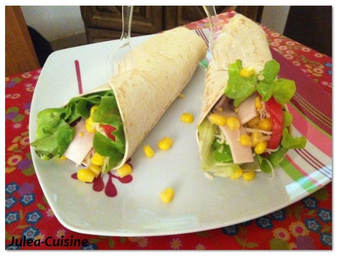 Wrap au poulet http://juleacuisine.blogspot.fr/2013/10/ambiance-street-food-wrap-home-made.html