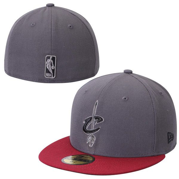 Mens Cleveland Cavaliers Graphite/Red Team Logo 59FIFTY Fitted Hat, Today's Sale Price: $26.99 -  You Save: $8.00