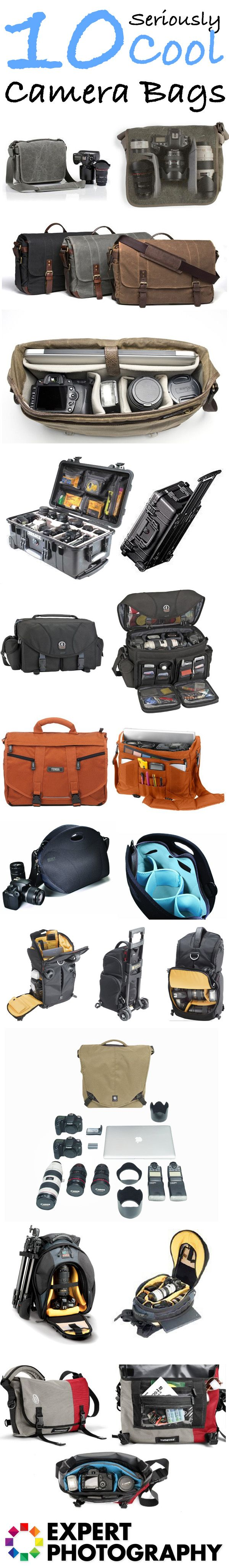 10 Seriously Cool Camera Bags » Expert Photography - I love the one that lets you carry your MacBook!