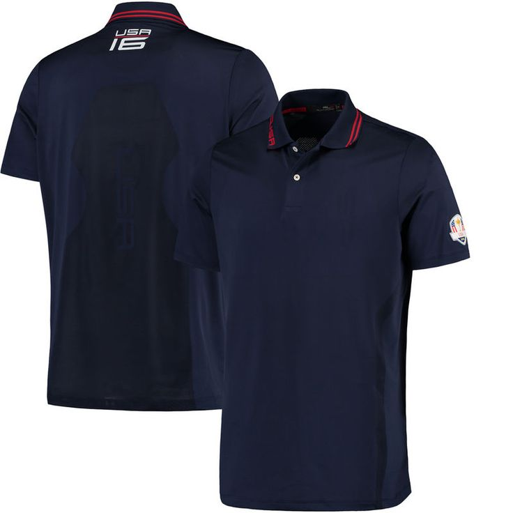 RLX 2016 Ryder Cup Wednesday Active-Fit Micro Jacquard Polo - Navy