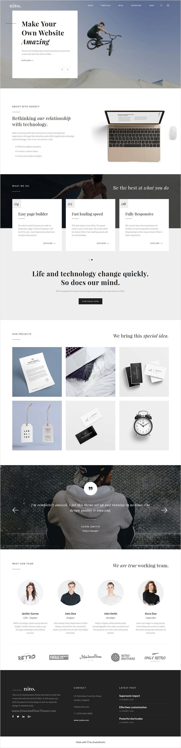 Nito is a clean and minimal multipurpose #WordPress theme for stunning #corporate #website with 21+ unique homepage layouts download now➩ https://themeforest.net/item/nito-a-clean-minimal-multipurpose-wordpress-theme/17897172?ref=Datasata