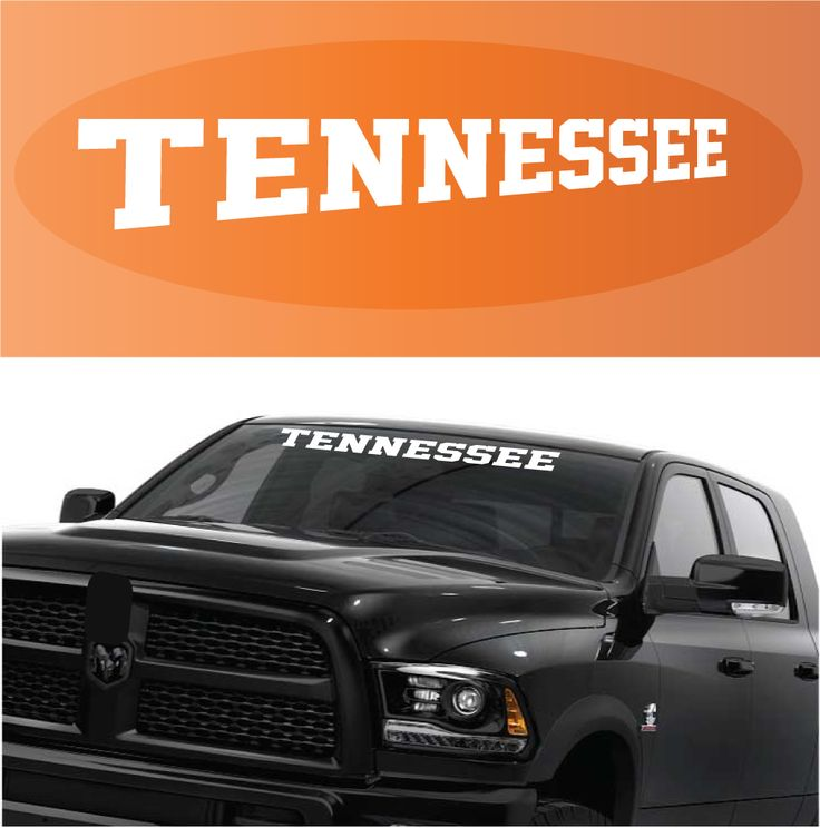 Tennessee decal custom windshield banner banners and rear window