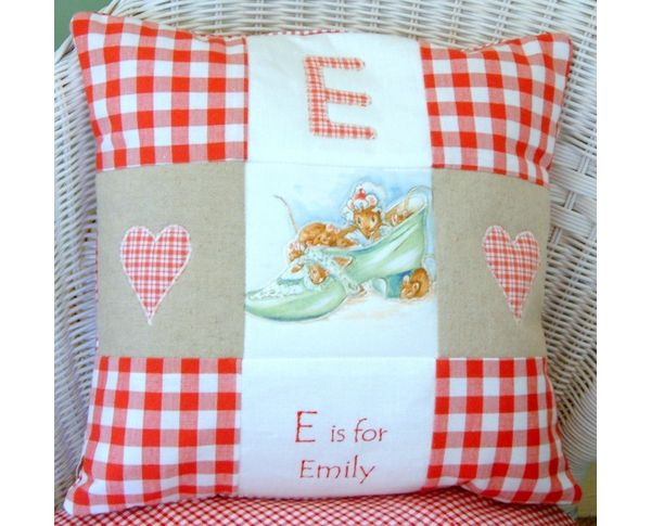 Alphabet Cushion by Tuppenny House Designs!