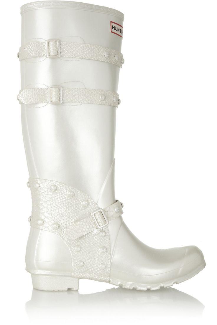 HUNTER ORIGINAL Festival pearlescent Wellington boots. #hunteroriginal #shoes #boots