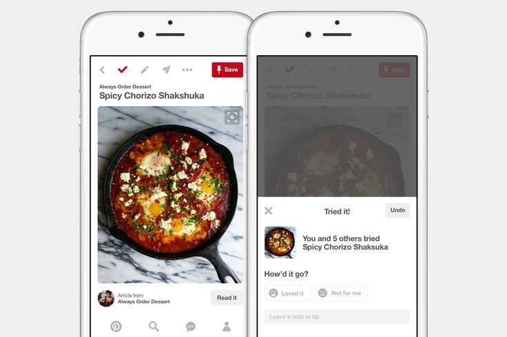 A new way to keep track of ideas you try on Pinterest