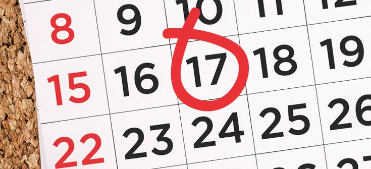 Image of a calendar with the tax deadline circled in red.