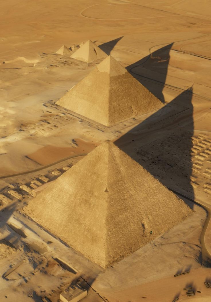 An aerial view of the pyramids at Giza. Khufu's Pyramid is in the foreground. An international team of scientists has discovered a large hidden cavity within Egypt's Great Pyramid of Giza, and they did it by looking for muons — particles sent to Earth by cosmic rays from space.