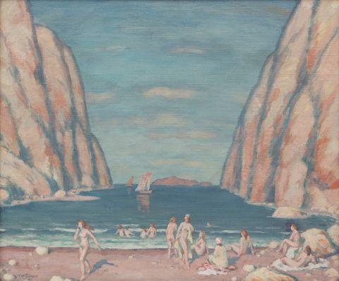 Šimon Tavík František (1877–1942) | At a Sea Inlet | Aukce obrazů, starožitností | Aukční dům Sýpka