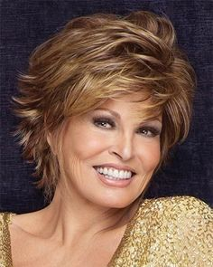 flirty hairstyles for women over 50 | Raquel Welch Hairstyle - Short Haircuts for Women Over 40 - 50