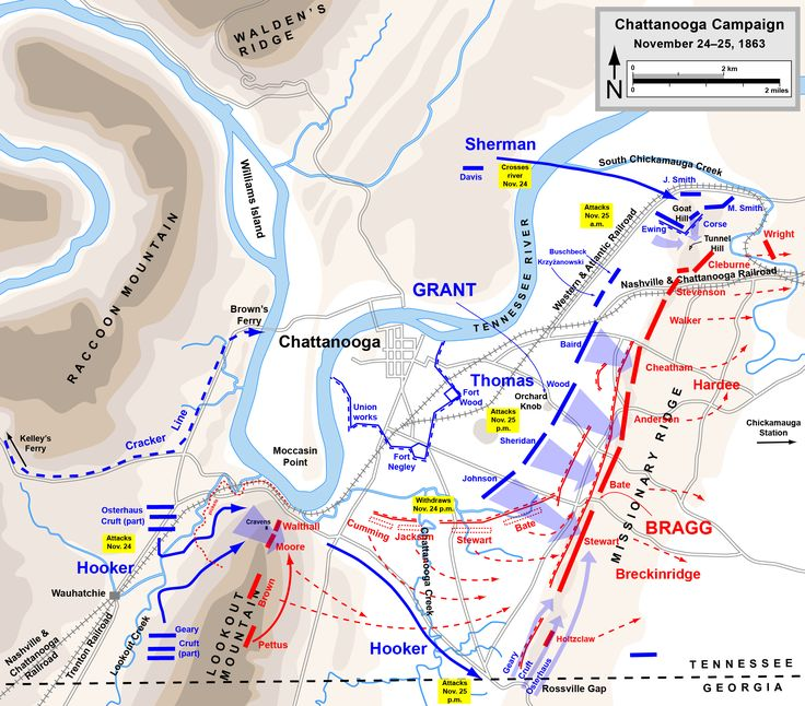 Best Civil War Maps Images On Pinterest Map And Visual Schedules - Battle of chickamauga map