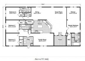 palm harbor home double wide floor pla sierra saving again because this is the only floor - Double Wide Home Floor Plans