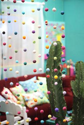 Como fazer uma cortina de bolinhas