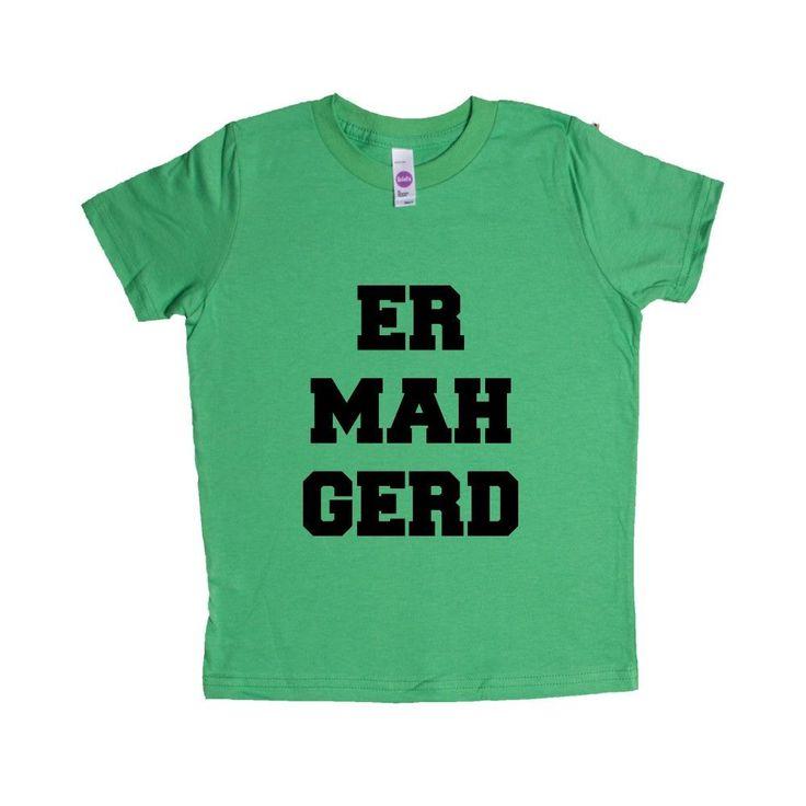 Er Mah Gerd Oh My God OMG Picture Pictures Internet Online Computers Computer Meme Memes SGAL6 Unisex Kid's Shirt