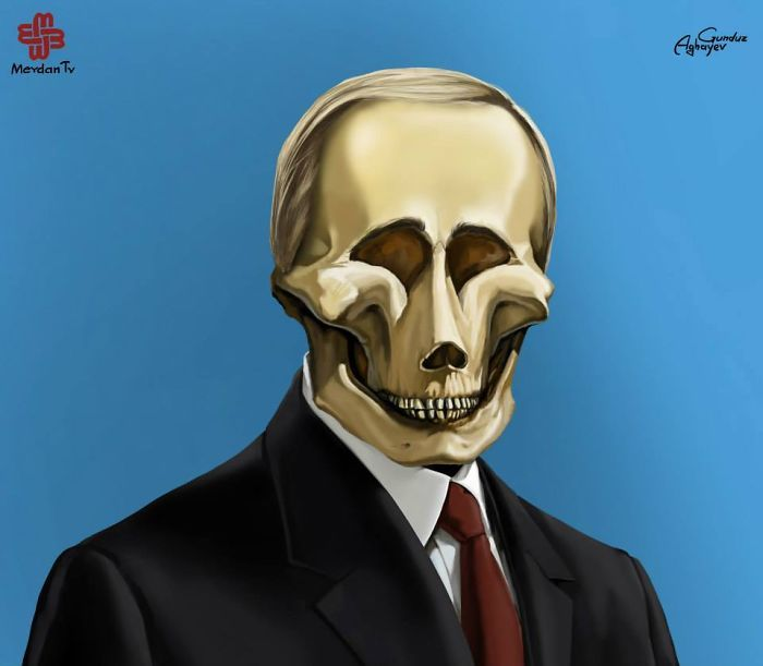 Just Leaders: Creepy Illustrations Of Notorious Leaders By Gunduz Agayev | Bored Panda
