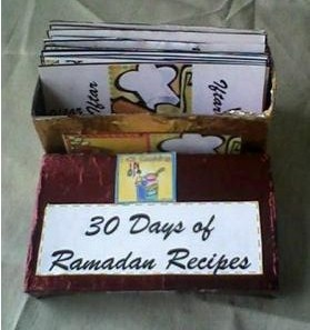Ramadan Recipe Box; great way for preparing the kitchen in advance for the Holy month.