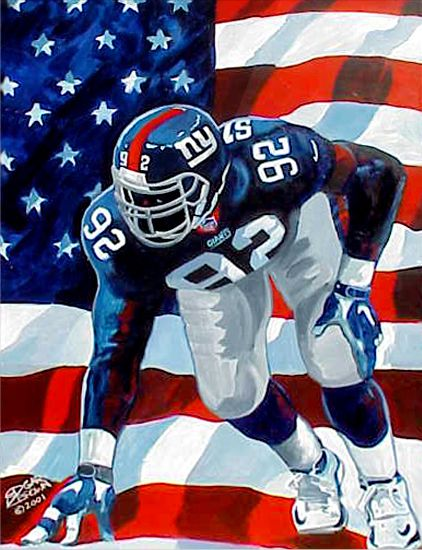 "Michael Strahan ""United We Sack"" by Edgar J. Brown"
