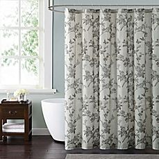 image of Style 212 Lisborn Brown Shower Curtain
