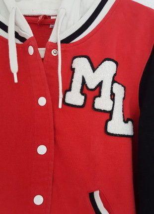 Bluza basebolówka czerwono-czarna