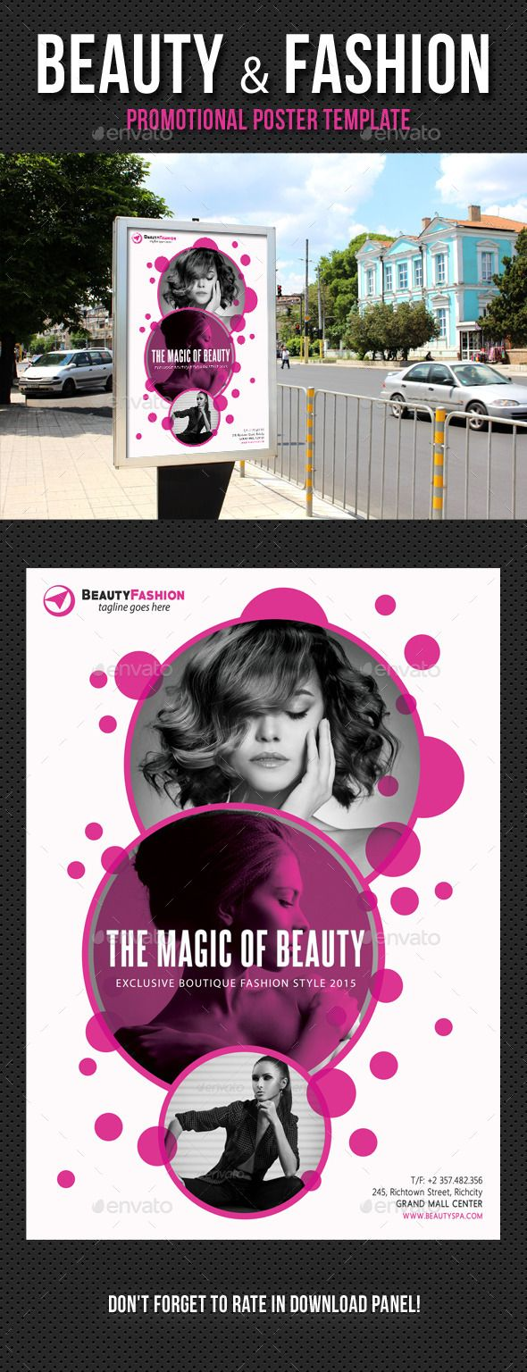Beauty and Fashion Poster Template PSD. Download here: http://graphicriver.net/item/beauty-and-fashion-poster-template-v01/13179033?ref=ksioks