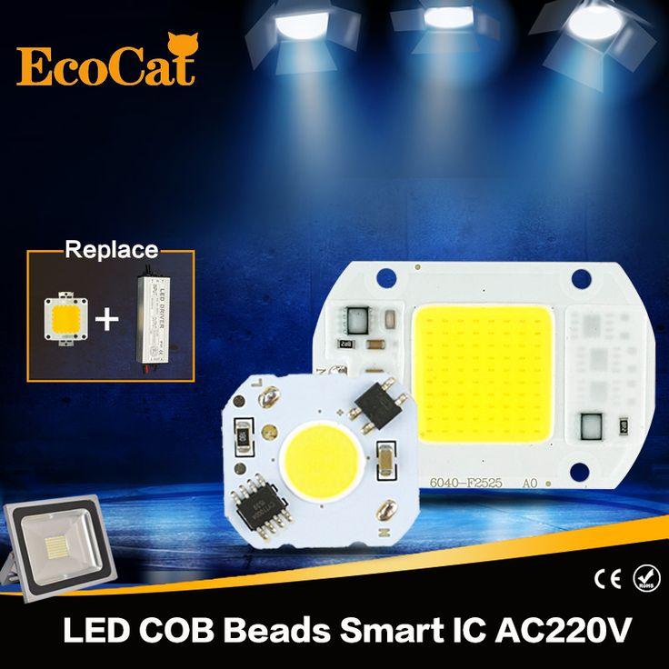 אקו חתול מנורת LED צ 'יפ COB 5 W 10 W 20 W 30 W 50 W 220 V החכם קלט נהג IC Fit עבור DIY קר לבן חם LED זרקור הארה