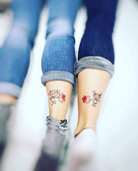 60 Cool Sister Tattoo Ideas to Express Your Sibling Love – #cool #Express #Ideas #love #Sibling