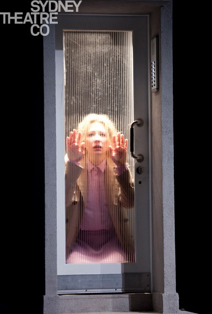 """I'm here, and there's nothing wrong with me."" -- ""Big and Small (Gross und Klein),"" a play by Botho Strauss, starring Cate Blanchett. At the Barbican Theatre in London."