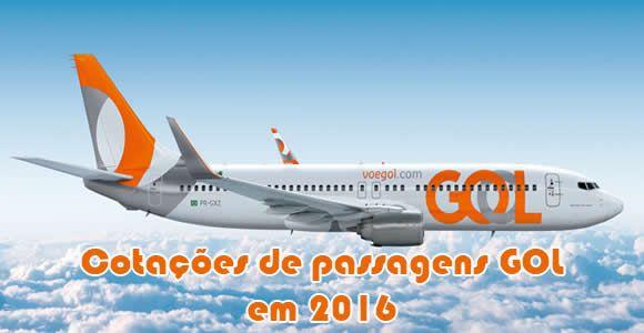 Voos e passagens GOL em promoção 2016 #gol #passagens #voos #viagem #2016