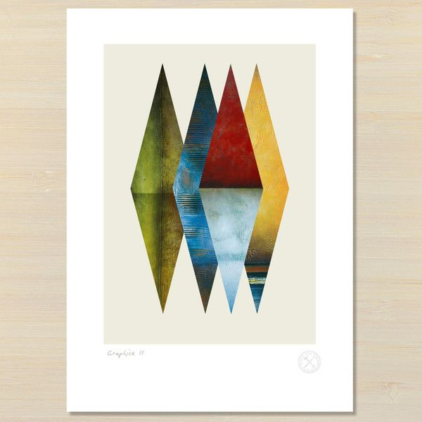 unframed graphice 2 giclee print from Pencil and Hammer