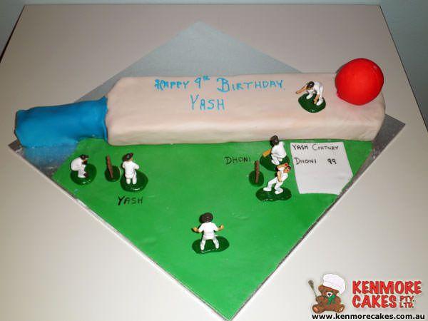 Criket Birthday Cake
