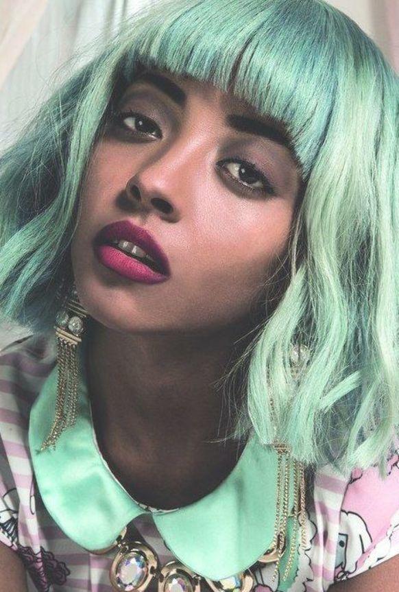 Michelene Auguste Green Hair Green Wig Hair Color