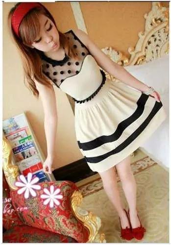 vestido casual, corto. moda asiática, japonesa!!!