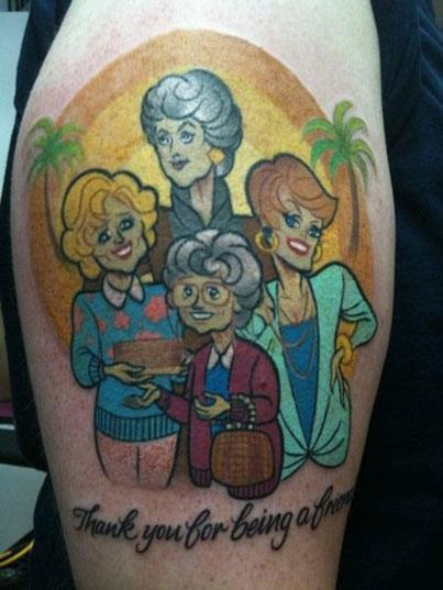 Golden Girls tattoo!: Golden Girls Tattoo, First Tattoo, Portraits Tattoo, Tattoo Patterns, Matching Tattoo, A Tattoo, The Golden Girls, Weights Loss, Stay Golden