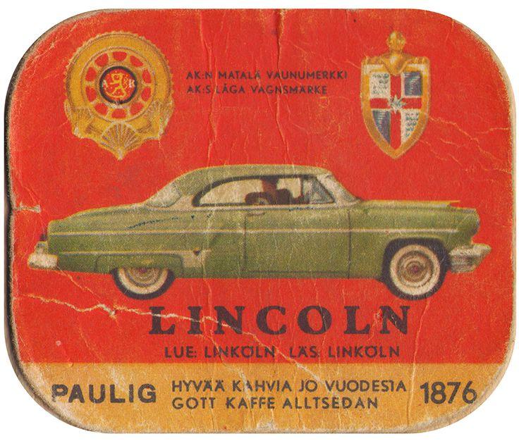 En nostalgitripp fram till jul med hjälp av Pauligs bilkort från mitten av 1900-talet. Lincoln #cars #vintage